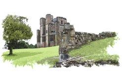 Kenilworth Castle, επίδραση χρωμάτων της Αγγλίας Στοκ εικόνες με δικαίωμα ελεύθερης χρήσης