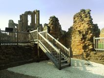 Kenilworth castle ruins viewing gallery Stock Photography