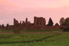 Kenilworth Castle. View of Kenilworth Castle at sunrise Stock Images