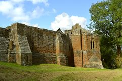 Kenilworth Castle in Warwickshire. The historical Kenilworth Castle in Warwickshire Royalty Free Stock Image
