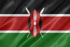 Kenja flaga zdjęcie stock