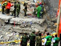 Kenja, zawalony budynek zdjęcie royalty free
