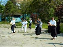 Kenjutsu training Royalty Free Stock Photos