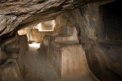 Kenko Inca Cave Temple - Peru. The sacrificial altar in Kenko Cave Temple, a subterranean Inca temple near Cuzco in Peru Royalty Free Stock Images