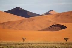Ökenlandskap, Sossusvlei, Namibia Royaltyfri Bild
