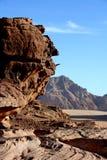 Ökenlandskap, Wadi Rum, Jordanien Fotografering för Bildbyråer