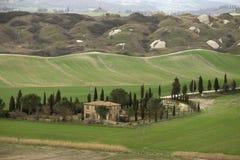 Kenmerkend landschap van Toscanië, Italië stock afbeeldingen
