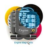 Kenmerkende motor Royalty-vrije Stock Afbeeldingen