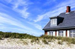 Kenmerkende Skagen-huisvesting royalty-vrije stock afbeelding