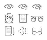 Kenmerkende visie en correctiepictogrammen vector illustratie