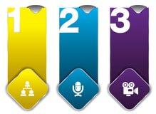 Kenn-Nummer mit Ikone Lizenzfreie Abbildung