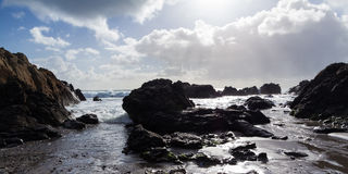 Kennack piaski Cornwall zdjęcie royalty free