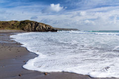 Kennack piaski Cornwall obraz stock