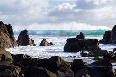 Kennack piaski Cornwall zdjęcia stock