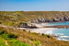 Kennack piaski Cornwall Anglia UK obrazy royalty free