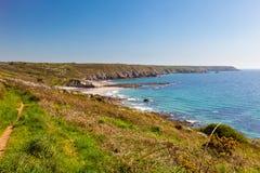 Kennack piaski Cornwall Anglia UK zdjęcie stock