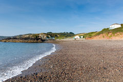 Kennack Sands beach Cornwall the Lizard Heritage coast South West England with blue sky on a sunny summer morning Royalty Free Stock Photography