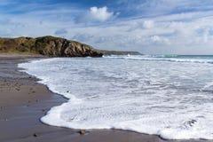 Kennack Sands Cornwall. The rugged beach at Kennack Sands on the Lizard Peninsula Cornwall England UK Stock Image