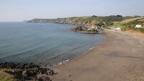 Kennack Sands Cornwall the Lizard Heritage coast South West England uk in summer stock video footage