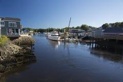 Kennebunk flod Kennebunkport royaltyfri fotografi