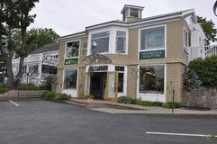Kennebunkport, Maine, 30 Juni: Maine Art Gallery Building van Kennebunkport in Maine-staat van de V.S. Stock Afbeeldingen