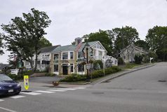 Kennebunkport, Maine, 30 Juni: Maine Art Gallery Building van Kennebunkport in Maine-staat van de V.S. Royalty-vrije Stock Fotografie
