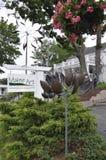Kennebunkport, Maine, am 30. Juni: Maine Art Gallery Garden von Kennebunkport in Maine-Staat von USA Lizenzfreie Stockfotos