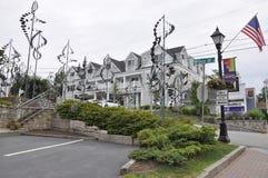 Kennebunkport, Maine, 30 Juni: De grote Hotelbouw van Kennebunkport in Maine-staat van de V.S. Stock Foto's