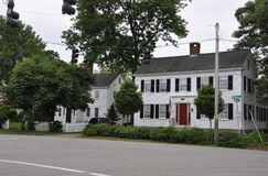 Kennebunkport, Maine, 30th June: Downtown Historic Houses from Kennebunkport in Maine state of USA stock images