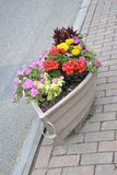 Kennebunkport, Maine, 30th June: Downtown Street Jardiniere from Kennebunkport in Maine state of USA Stock Image