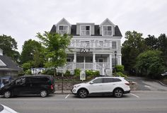 Kennebunkport, Maine, 30th June: Grand Hotel Building from Kennebunkport in Maine state of USA Royalty Free Stock Photography