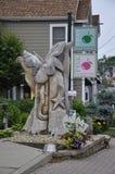Kennebunkport Maine, 30th Juni: I stadens centrum träskulptur från Kennebunkport i det Maine tillståndet av USA Royaltyfri Foto