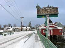 Kennebunkport after Nemo royalty free stock photography