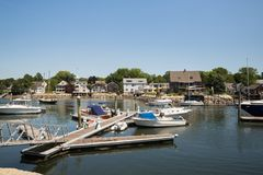 Kennebunkport New England Maine on a sunny afternoon Royalty Free Stock Photos