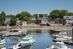 Kennebunkport New England Maine on a sunny afternoon royalty free stock images