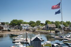 Kennebunkport New England Maine on a sunny afternoon Stock Photos