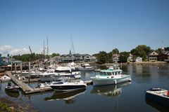 Kennebunkport New England Maine on a sunny afternoon royalty free stock image