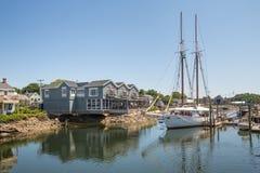 Kennebunkport Nueva Inglaterra Maine en una tarde soleada foto de archivo