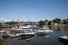 Kennebunkport Nueva Inglaterra Maine en una tarde soleada imagen de archivo libre de regalías