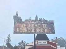 Kennebunkport, señalización de Maine imagen de archivo