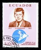 kennedy έτος γραμματοσήμων του Ισημερινού φ John του 1966 Kennedy (1917-1963), 50α γενέθλια JFK serie, circa 1 Στοκ εικόνες με δικαίωμα ελεύθερης χρήσης