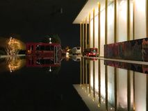 Kennedy arts center. Art story prohibit show performing cool love building reflections bus cold night beautiful great Stock Photos