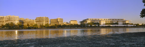 Kennedy Center and Watergate Hotel Royalty Free Stock Image