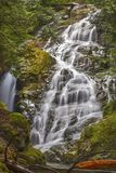 Kennedy Falls North Shore Mountains Vancouver. Kennedy Falls in Lush Rainforest in Lynn Valley Regional Park below Mount Seymour, North Shore Mountains Vancouver royalty free stock photography