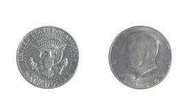 Kennedy Fifty Cent Piece Stock Images
