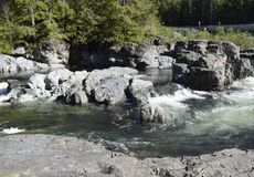 Kennedy-Flussstromschnellen, Vancouver Island stockfoto