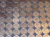 Kennedy Half Dollars fotografia stock libera da diritti