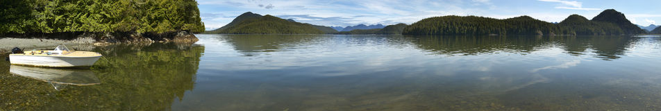 Kennedy lake panoramic view. Vancouver. British Columbia. Canada Royalty Free Stock Photography