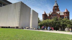 Kennedy Memorial à Dallas du centre banque de vidéos
