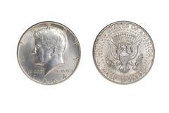 Kennedy pedazo de cincuenta centavos - 1964 foto de archivo